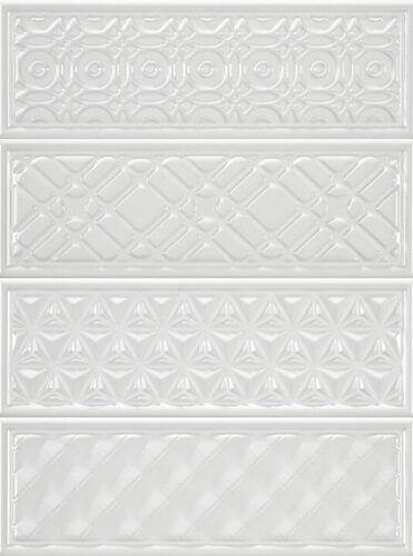 Плитка для ванной Heralgi Garden Dec Geometry Blanco 10x30