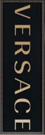 Декор Versace Solid Gold Firma Black 20x60