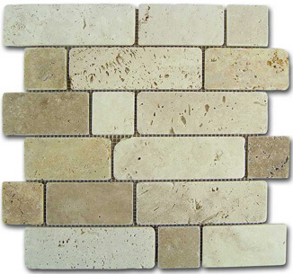 Mosaico Travertino Brick 184996 D-515