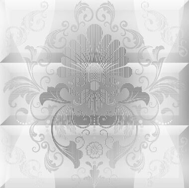Composicion Ornamental Blanco